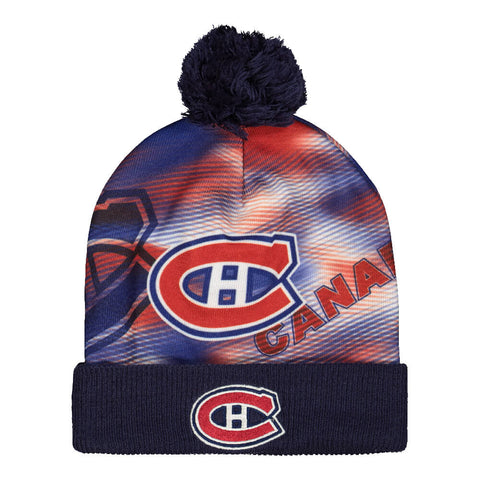 REEBOK MEN'S MONTREAL CANADIENS SUBLIMATED PRINT POM KNIT HAT