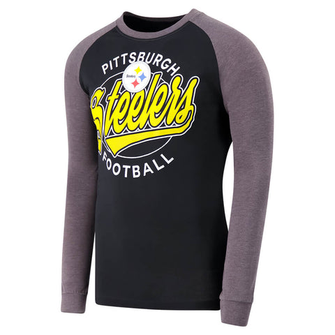 OLD TIME HOCKEY MEN'S PITTSBURGH STEELERS ROUNDER LONG SLEEVE TOP