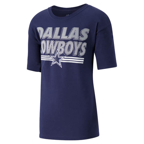OLD TIME HOCKEY YOUTH DALLAS COWBOYS MESHED UP SHORT SLEEVE TOP