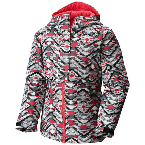 COLUMBIA GIRLS SNOWCATION NATION OMNI -TECH OUTGROWN JACKET BLACK 2016