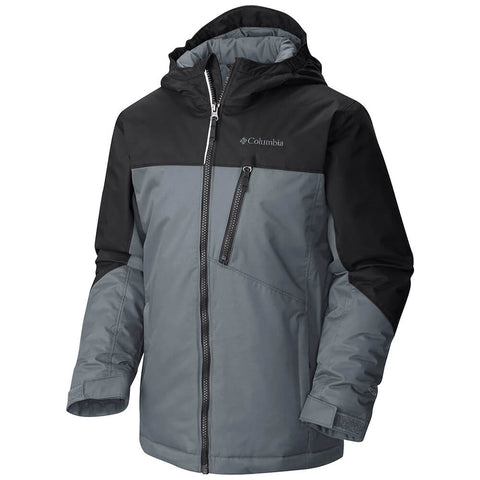 COLUMBIA YOUTH DOUBLE GRAB OMNI-TECH OUTGROWN JACKET BLACK