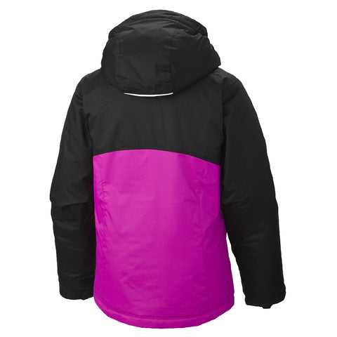 COLUMBIA GIRLS' CRASH COURSE OMNI - TECH OUTGROWN JACKET BLACK 2016