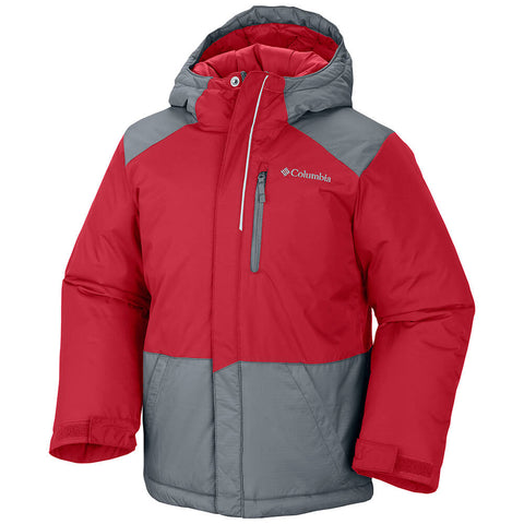 COLUMBIA YOUTH LIGHTNING LIFT WATERPROOF INSULATED JACKET RED 2016