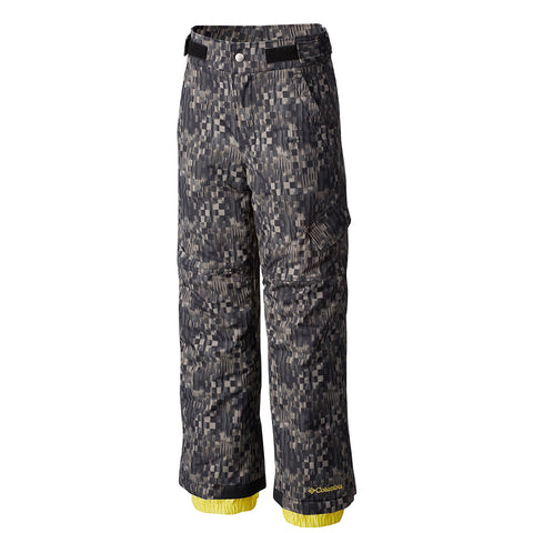 COLUMBIA YOUTH SNOWSLOPE II WATERPROOF OUTGROWN PANT BLACK GEO PRINT 2016