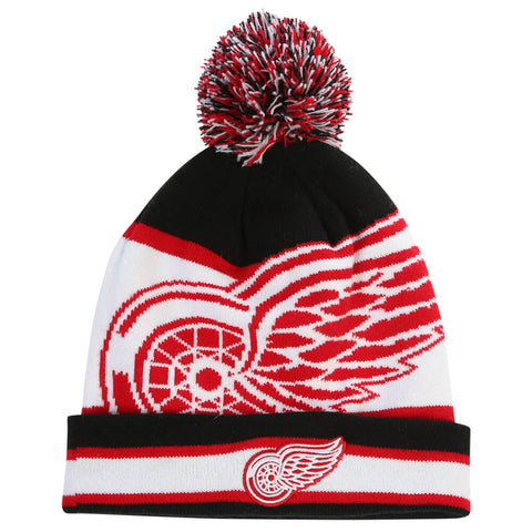 GERTEX YOUTH DETROIT RED WINGS FAN POM KNIT TOQUE