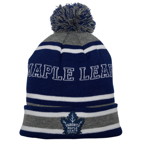 GERTEX MEN'S TORONTO MAPLE LEAFS POM KNIT TOQUE