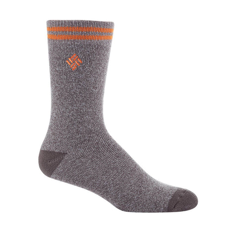 COLUMBIA MEN'S 2 PACK THERMAL PATTERN SOCKS 10-13 GREY/ORANGE