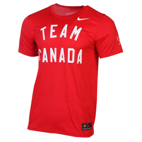 NIKE MEN'S TEAM CANADA LEGEND TOP RED