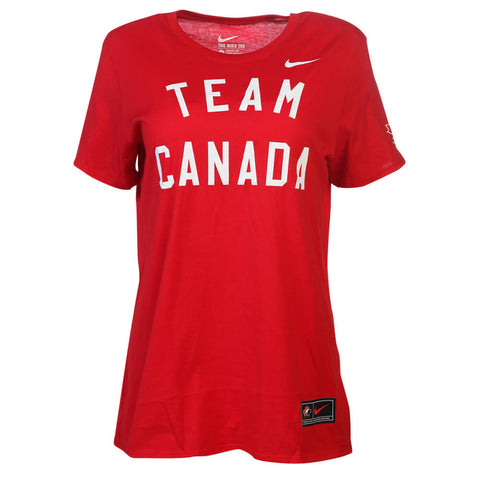 NIKE WOMEN'S TEAM CANADA COTTON TOP RED