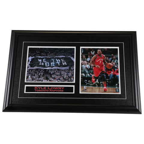 FRAMEWORTH TORONTO RAPTORS LOWRY DOUBLE WE THE NORTH