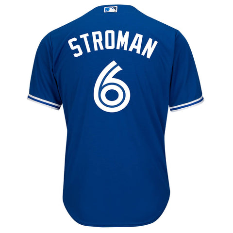MAJESTIC 4-7 TORONTO BLUE JAYS ALTERNATE STROMAN JERSEY ROYAL