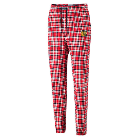 JOE BOXER MEN'S CHICAGO BLACKHAWKS PLAID FANNEL PANTS
