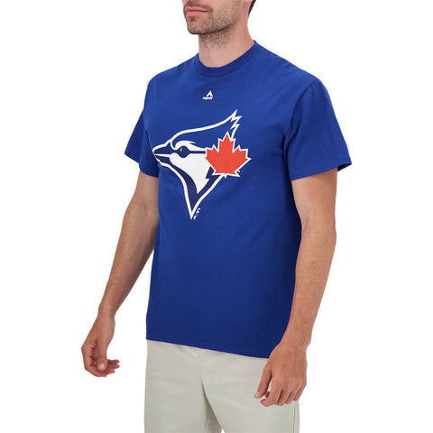MAJESTIC MEN'S TORONTO BLUE JAYS OFFICIAL LOGO SHORT SLEEVE TOP