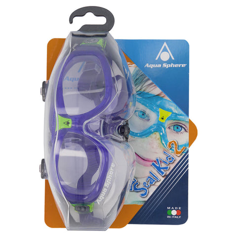 AQUA SPHERE JR SEAL KID 2 GOGGLE VIOLET/LIME