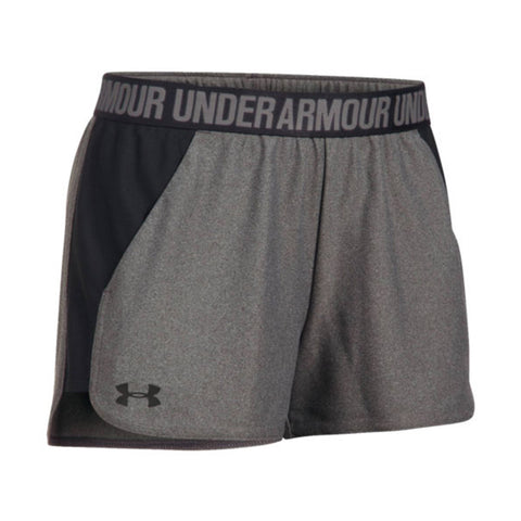 fba04bcd3 UNDER ARMOUR WOMEN'S PLAY UP SHORT CARBON HEATHER/BLACK