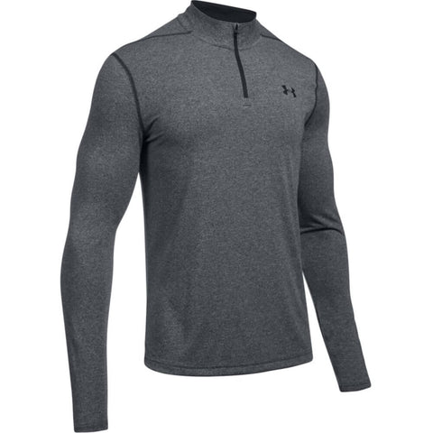 UNDER ARMOUR MEN'S THREADBORNE 1/4 ZIP TOP BLACK