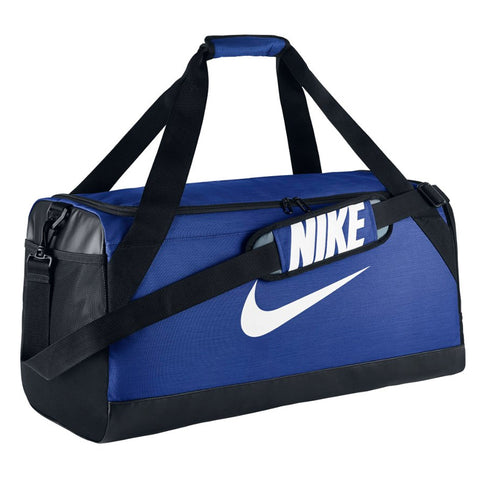 NIKE BRASILIA MEDIUM DUFFEL ROYAL/BLACK
