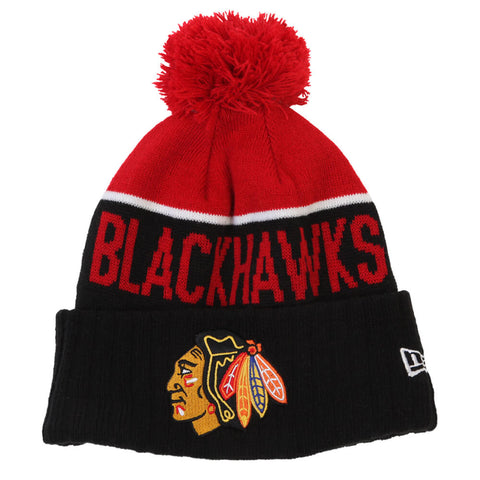 NEW ERA MEN'S CHICAGO BLACKHAWKS NE15 SPORT KNIT TOQUE