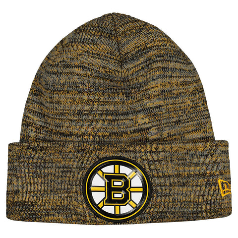 NEW ERA MEN'S BOSTON BRUINS BEVEL TEAM KNIT HAT