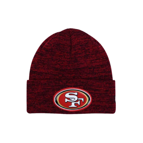 NEW ERA MEN'S SAN FRANCISO 49ERS BEVEL TEAM KNIT BEANIE