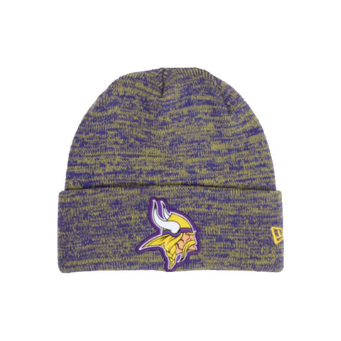 NEW ERA MEN'S MINNESOTA VIKINGS BEVEL TEAM KNIT BEANIE
