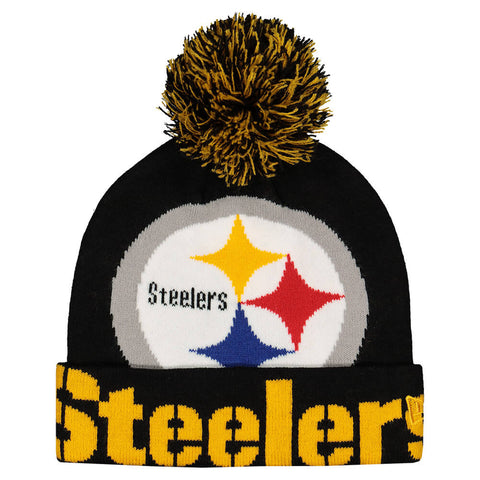 NEW ERA MEN'S PITTSBURGH STEELERS COLOSSAL TEAM KNIT HAT
