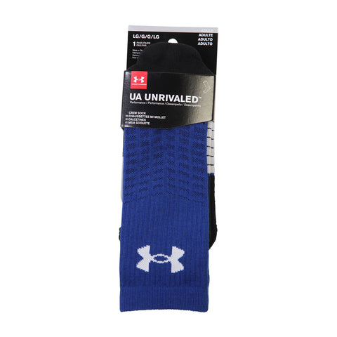 UNDER ARMOUR MEN'S UNRIVALED CREW LARGE ROYAL/WHITE