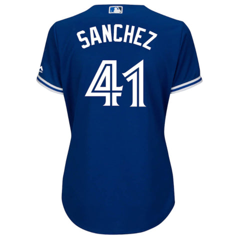MAJESTIC WOMEN'S TORONTO BLUE JAYS ALTERNATE SANCHEZ JERSEY ROYAL