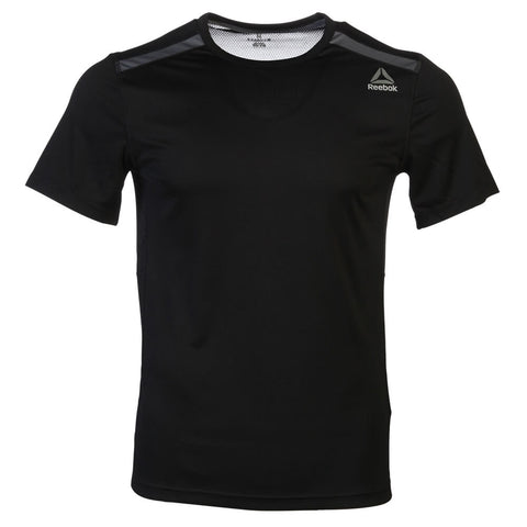 REEBOK MEN'S WOR SHORT SLEEVE TOP BLACK