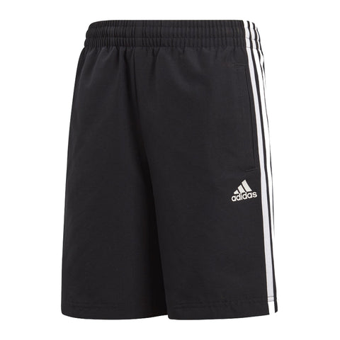 ADIDAS BOY'S 3 STRIPE WOVEN SHORT BLACK