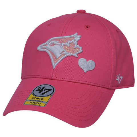 47 BRAND GIRLS TORONTO BLUE JAYS SUGAR SWEET 47 MVP CAP ROSE