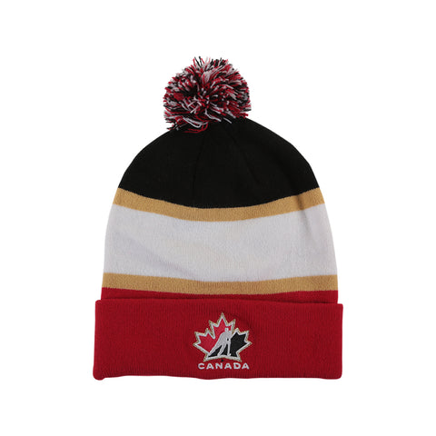NIKE YOUTH TEAM CANADA STRIPED POM TOQUE RED/WHITE/BLACK