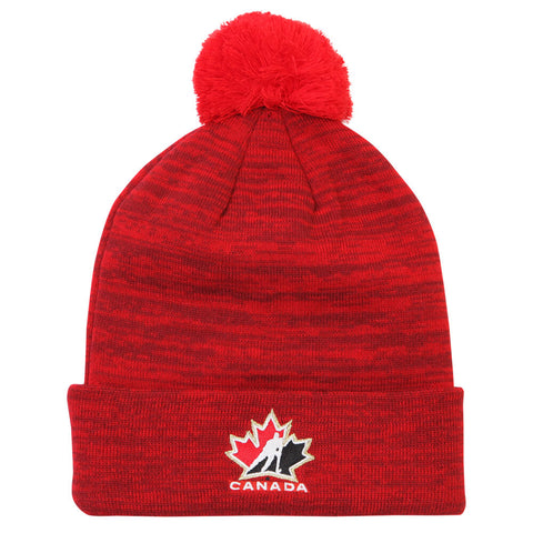 NIKE YOUTH MARLED POM TOQUE RED/BLACK