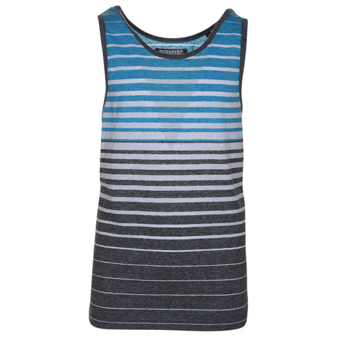 BURNSIDE YTH STRIPED TANK TOP BRIGHT TURQ