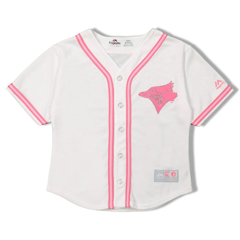 MAJESTIC GIRLS 4-6X TORONTO BLUE JAYS JERSEY PINK