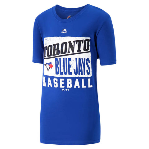 MAJESTIC YOUTH TORONTO BLUE JAYS OUT OF THE BOX  SHORT SLEEVE TOP