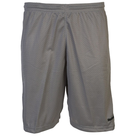 REEBOK MEN'S MESH BASKETBALL SHORTS CARBON