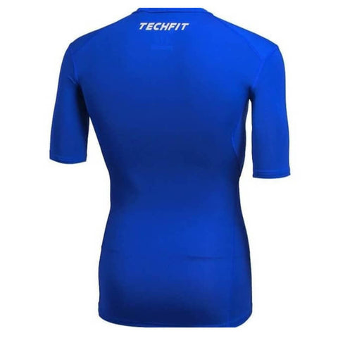 ADIDAS MEN'S TECH FIT BASE SHORT SLEEVE ROYAL