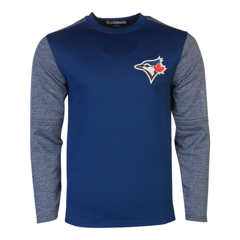 MAJESTIC MEN'S TORONTO BLUE JAYS ON FIELD TECH FLEECE TOP