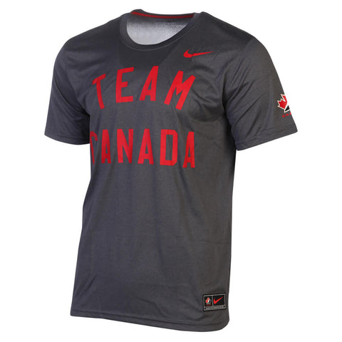 NIKE MEN'S TEAM CANADA LEGEND TOP GREY/WHITE