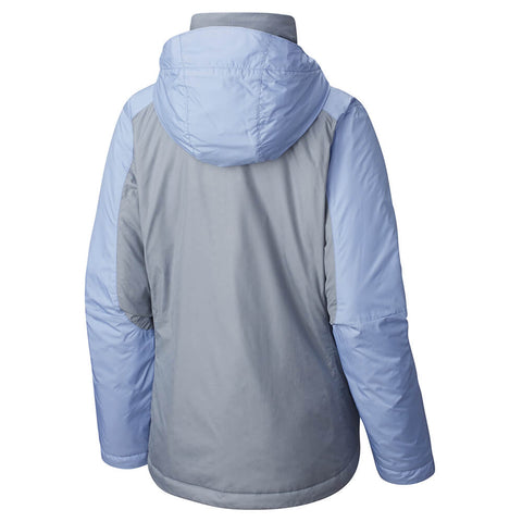 COLUMBIA WOMEN'S GOTCHA GROOVING INSULATED JACKET GREY EMBOSS