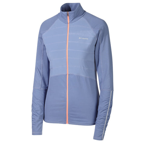 COLUMBIA W TRAIL FLASH HYBRID JKT BLUE/CORAL