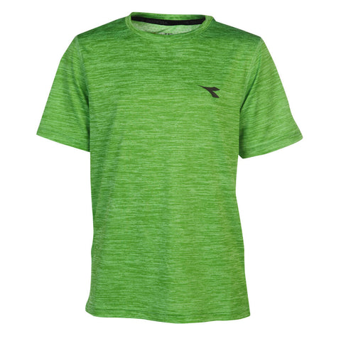 DIADORA BOYS SPACEDYE TECH TEE GREEN GECKO