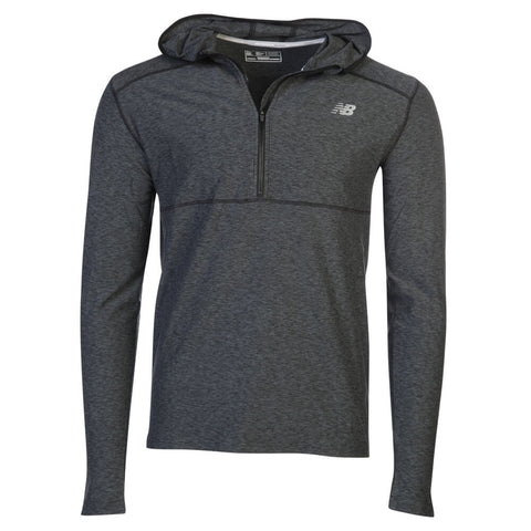 NEW BALANCE MEN'S SPACEDYE HOODY BLACK/GREY