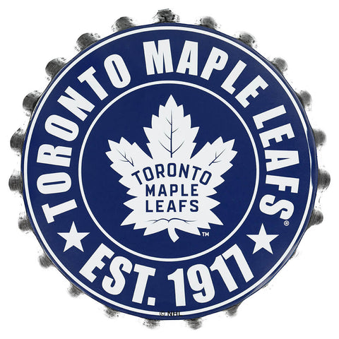 FOREVER COLLECTIBLES TORONTO MAPLE LEAFS BOTTLE CAP WALL LOGO