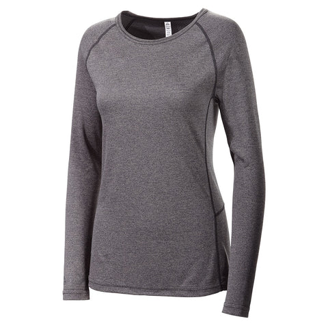 MCKINLEY W POLY BASELAYER BASIC TOP GRY