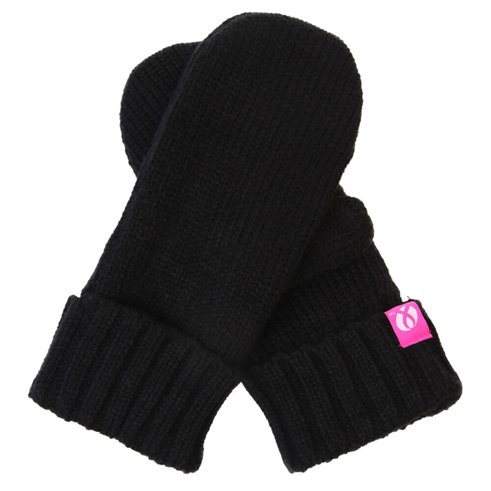 2c5736c85e40d FIREFLY BREAST CANCER FOUNDATION PINK RIBBON MITTEN BLACK – National ...
