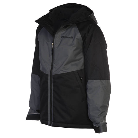 COLUMBIA BOYS' ALPINE ACTION INSULATED JACKET BLACK/ GRAPHITE