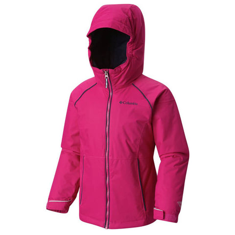 COLUMBIA GIRLS' ALPINE ACTION INSULATED JACKET BLUSH/ NAVY
