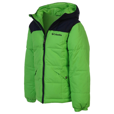 COLUMBIA BOYS' GYROSLOPE NSULATED JACKET GREEN/ NAVY